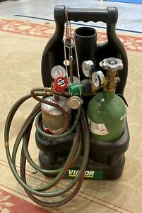 Victor Oxygen Acetylene Tanks Torch Central Illinois Welding Metal 15 200r 021