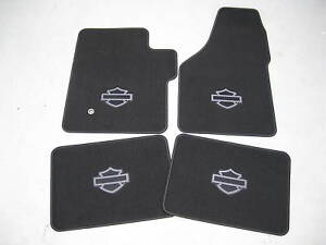 2000 2001 2002 Ford F 250 F 350 Harley Davidson Carpeted Floor Mats 4 Piece Set