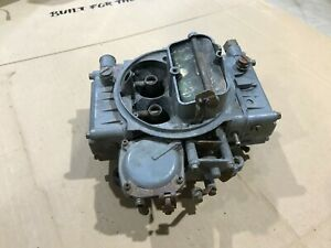 Used 600cfm Holley Carburetor 4 Barrel 1850 5 1160 For Parts Or Rebuild