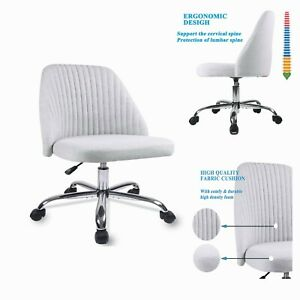 Home Office Chair Modern Twill Fabric Adjustable Mid back Task Desk Chair Stock