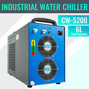 Cw 5200 Industrial Water Chiller For 60 150w Co2 Laser Tubes For Lab And Factory