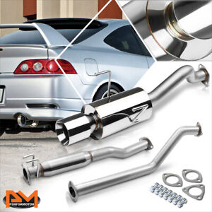 For 02 06 Acura Rsx Dc5 Type S 4 Rolled Tip Muffler S S Catback Exhaust System