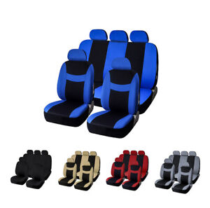 Car Seat Covers Full Set Front Rear Headrest Car Protector For Car Truck Suv Van