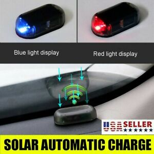 Car Fake Solar Alarm Led Light Security System Warning Anti Theft Flash Blinking
