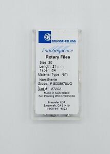 1 Pack Of Brasseler Endosequence Rotary Files 30 Taper 04 21mm