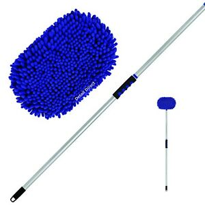 Microfiber Car Wash Mop Kit With Extendable Handle Extends From 28 To 48