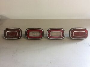 1971 1972 1973 Vega Tail Lights With Housings Gt Original Gm