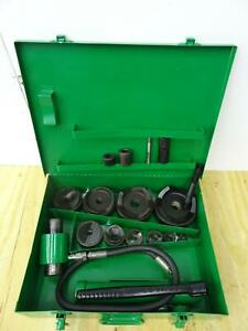 Greenlee 7310 Hydraulic Knockout Punch And Die Set 1 2 To 4 Great Shape 2