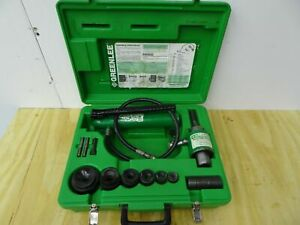 Greenlee 7306 Hydraulic Knockout Punch And Die Set 1 2 To 2 Great Shape