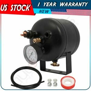 0 5 Gallon 150 Psi Black Air Horn Tank W Air Gauge Switch For Train Truck Horn