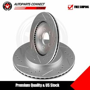 Rear Disc Brake Rotors Driver Passenger Set For 2005 2013 2014 Ford Mustang