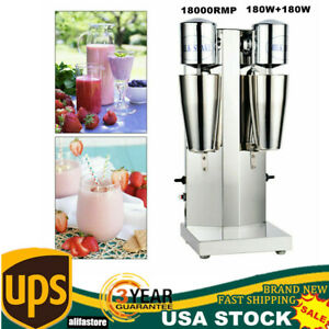 Commercial Stainless Electric Dual Head Milk Shake Maker Drink Mixer Machine Us