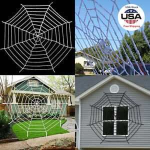 Halloween Giant Spider Web Rope Decor Cobweb Haunted House Party Decoration US