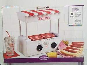 Hot Dog Roller Old Fashion Grill Machine Nostalgia White red