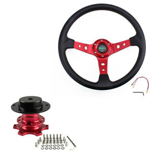 Us 13 5 Steering Wheel Quick Release Adapter Hub Boss Kit For 6 Holes Adapter