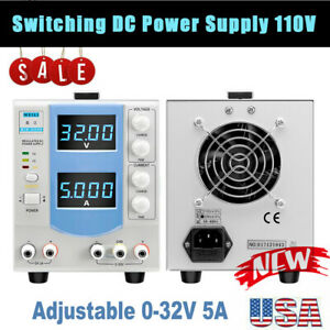 0 32v 0 5a Adjustable Dc Power Supply Regulated Power Supply Led Display Testing