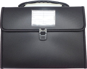 Cypress Lane Expanding File Folders With Handle 13 Pockets Letter Size Black