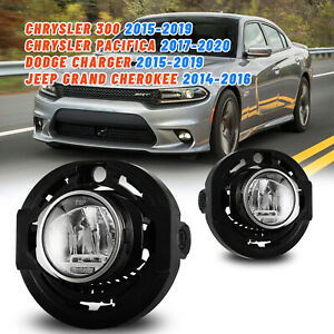 Led Fog Lights For 15 19 Dodge Charger 14 16 Jeep Grand Cherokee Clear Lamp Pair
