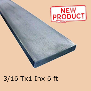 Stainless Steel Flat Bar Stock 3 16 Inch X 1 X 6 Ft Rectangular Mill Finish New