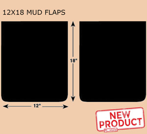2 Rubber Truck Mud Flaps 12 In Wide X 18 Long X 1 4 Thick Single Wheel Pickups
