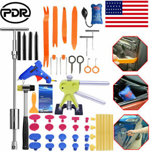 Us Car Paintless Hail Repair Dent Puller Lifter Slide Hammer Damage Removal Kit
