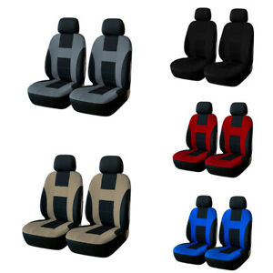 4pcs Universal Car Seat Cover Set Breathable Front 2 Seat For Car Truck Suv