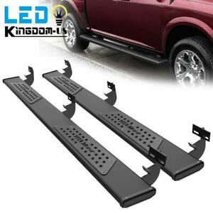 For 2009 2018 Dodge Ram 1500 Crew Cab 6 Running Boards Nerf Bars Side Steps Blk