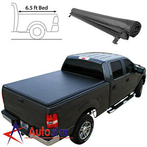 Soft Roll up Tonneau Cover For 1999 2016 Ford F250 F350 Super Duty 6 5ft Bed