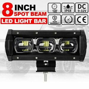 8inch Slim Single Row 6d Cree Led Work Light Bar Spot Light Driving Lamp 12v 7