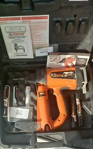 Used Ramset T3 Gas Nailer With Batteries Charger And Fuel Cells Job Site Ready