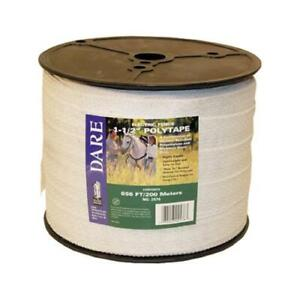 Electric Fence Tape White Poly amp 15 wire Stainless Steel 1 5 in X 656 ft