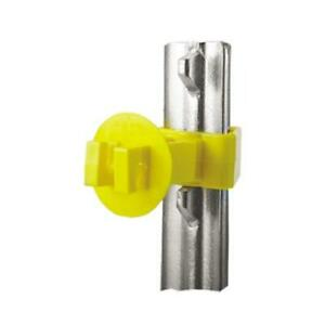 Electric Fence Insulator T post Snug fit Yellow Extra long 25 pk