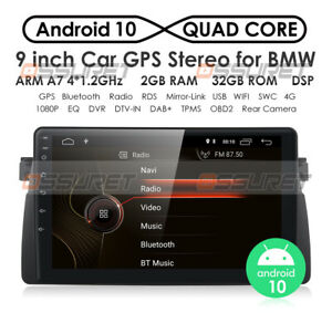 9 Android 10 For Bmw 3 Series E46 Car Video Stereo Gps Sat Navi Radio Head Unit