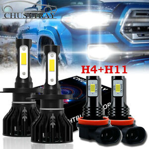 Combo Led Headlight Kit For Toyota Tacoma 2012 2015 Hi low Beam Fog Light Bulbs