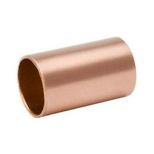 B k Pipe Fitting Sweat Copper Coupling With Stop 1 2 in 10 pk