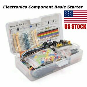 Electronics Component Basic Starter Kit W 830 Tie points Breadboard Resistor Us