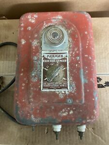 Antique Parmak Electric Fencer Charger Primitive Decor Salvage Collectible Used