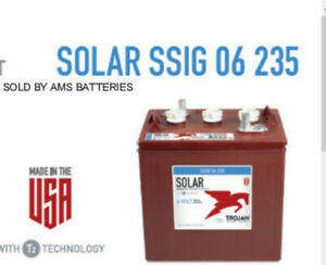 Trojan Battery Solar 6v 235ah 100hr Ssig 06 235 Ssig06235 Deep Cycle Flooded