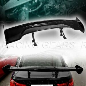 Universal 57 Dragon 3 Style Painted Black Abs Gt Trunk Adjustable Spoiler Wing