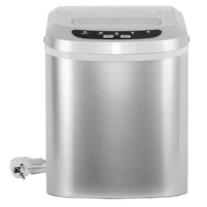 Smeta Electric Portable Ice Maker Cube Machine Countertop 26lbs Day Silver