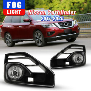 For 17 20 Nissan Pathfinder Clear Fog Lights Driving Car Lamps Wiring Switch Kit