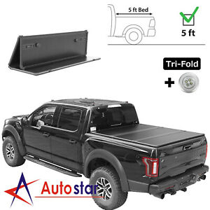 Tri Fold Hard Solid Tonneau Cover For 2014 2018 Ford Ranger 5ft Truck Bed On Top