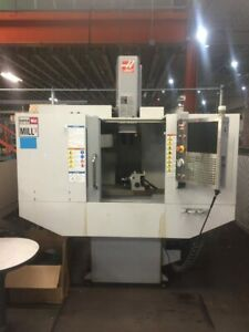 Haas Super Mini Mill 2 Cnc Vertical Machining Center 4th Axis Recently Serviced