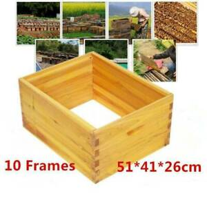 10 Frame Bee Hive Box Full Depth Dovetail Joint Boxes 51 X 41 X 26cm