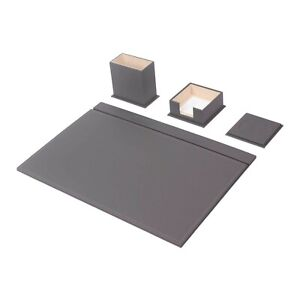Leather Desk Set 4 Accessories Gray Free Shipping