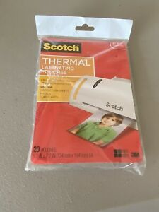 Scotch Photo Size Thermal Laminating Pouches 5 Mil 7 1 4 X 5 3 8 20 pack
