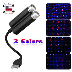Mini Usb Car Interior Atmosphere Star Sky Lamp Ambient Star Light Led Projector