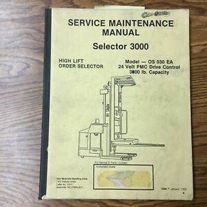 Yale 3000 Order Picker Service Maintenance Manual Electric Fork Lift Truck Guide