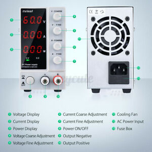 Minleaf Nps605w Dc Power Supply 300w 0 60v 0 5a Switch Adjustable Digital