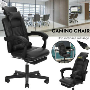 Swivel Massage Office Chair Executive Office Desk Reclining Computer Gaming